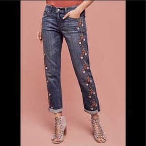 Pilcro and the Letterpress Floral Distressed Jeans